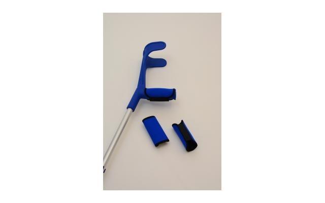 Handschoner zu Unterarmstützen blau und schwarz