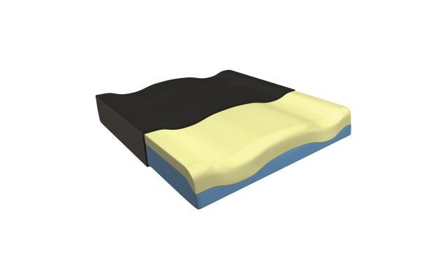 Sitzkissen B-R Comfort Visco 42 x 42 x 8 cm